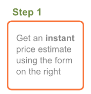 Step 1: Get an instant courier price estimate using the form on the right