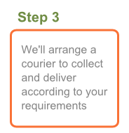 Step 3: We'll arrange a courier to collect and deliver according to your requirements